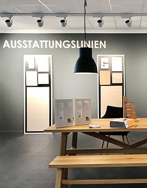 Manke_Showroom_Ausstattungslinien